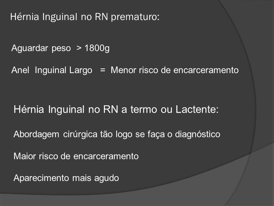Hérnia Inguinal no RN prematuro:
