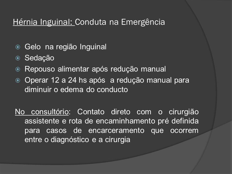 Hérnia Inguinal: Conduta na Emergência
