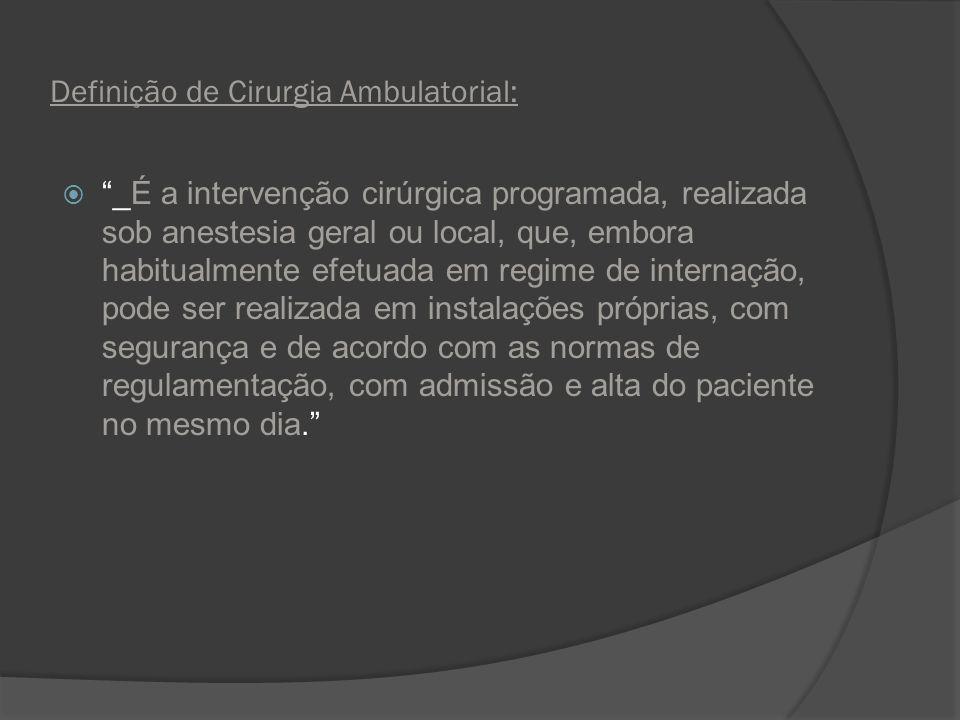 Definição de Cirurgia Ambulatorial: