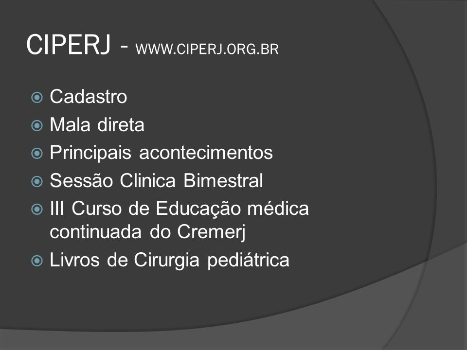 CIPERJ - WWW.CIPERJ.ORG.BR