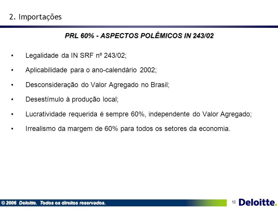 PRL 60% - ASPECTOS POLÊMICOS IN 243/02