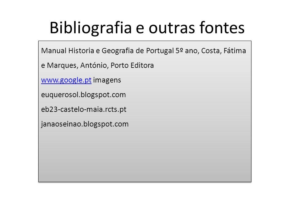 Bibliografia e outras fontes