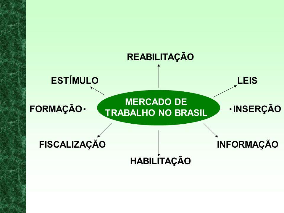 REABILITAÇÃO ESTÍMULO. LEIS. MERCADO DE. TRABALHO NO BRASIL. FORMAÇÃO. INSERÇÃO. FISCALIZAÇÃO.