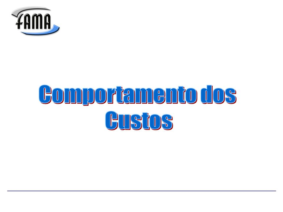 Comportamento dos Custos