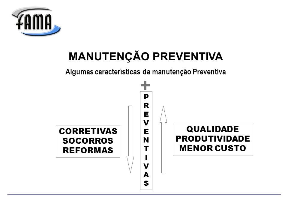 Algumas características da manutenção Preventiva