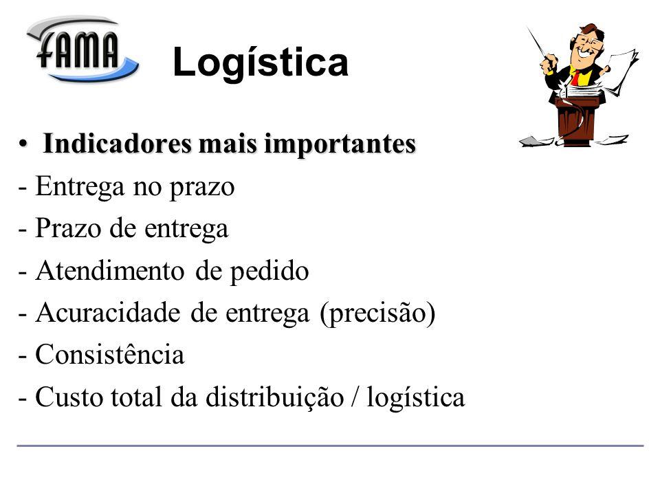 Logística Indicadores mais importantes - Entrega no prazo