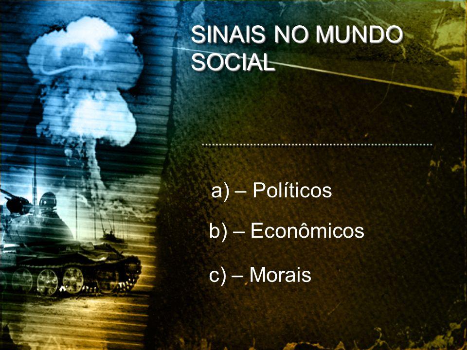 SINAIS NO MUNDO SOCIAL a) – Políticos b) – Econômicos c) – Morais