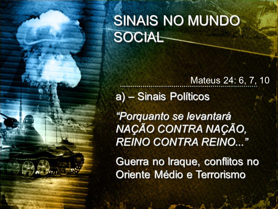 SINAIS NO MUNDO SOCIAL a) – Sinais Políticos