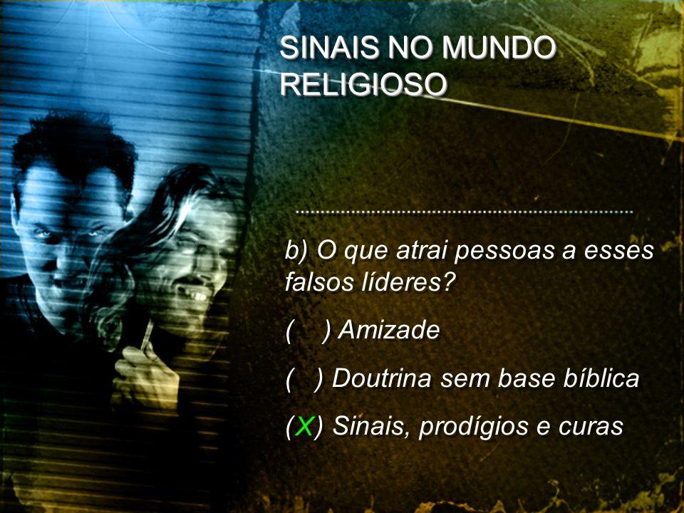 SINAIS NO MUNDO RELIGIOSO