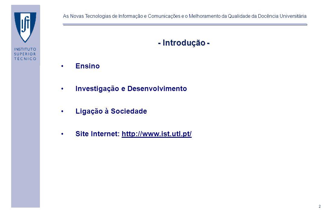 - Introdução - Ensino Investigação e Desenvolvimento