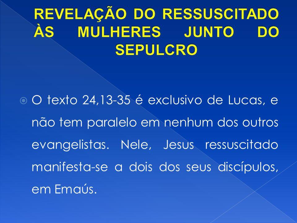 REVELAÇÃO DO RESSUSCITADO ÀS MULHERES JUNTO DO SEPULCRO