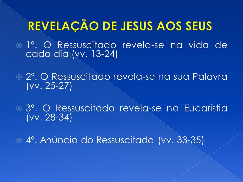 REVELAÇÃO DE JESUS AOS SEUS