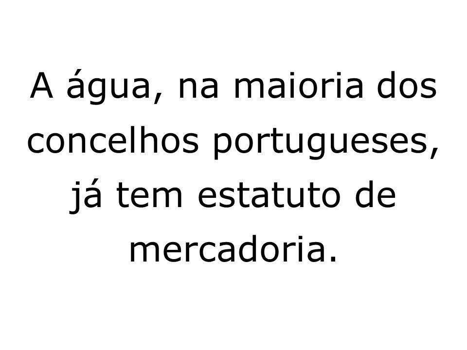 A água, na maioria dos concelhos portugueses, já tem estatuto de mercadoria.