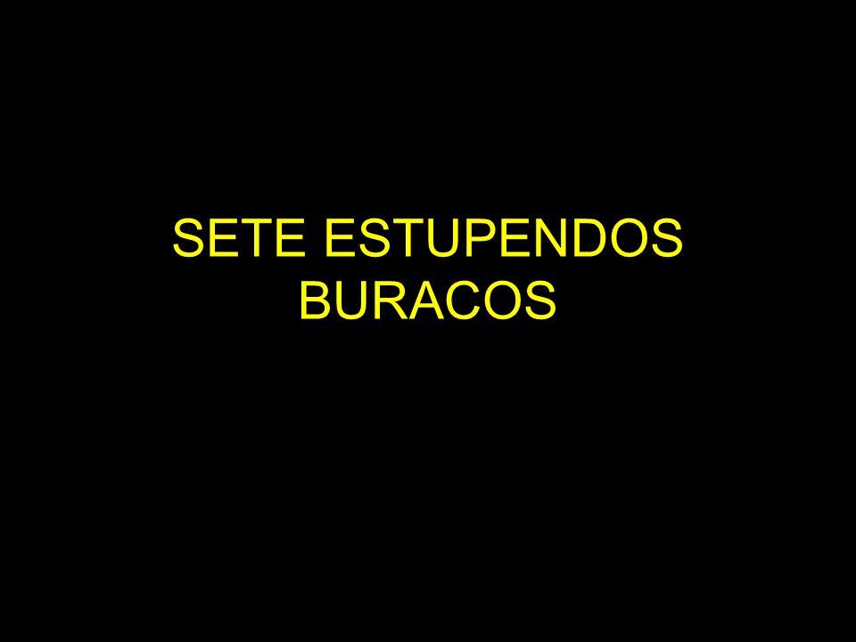 SETE ESTUPENDOS BURACOS