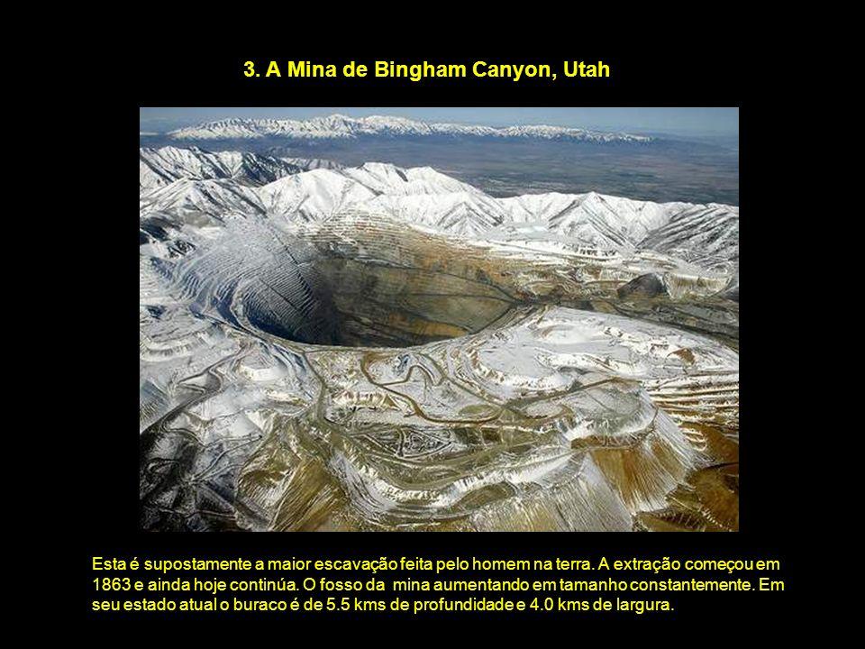 3. A Mina de Bingham Canyon, Utah