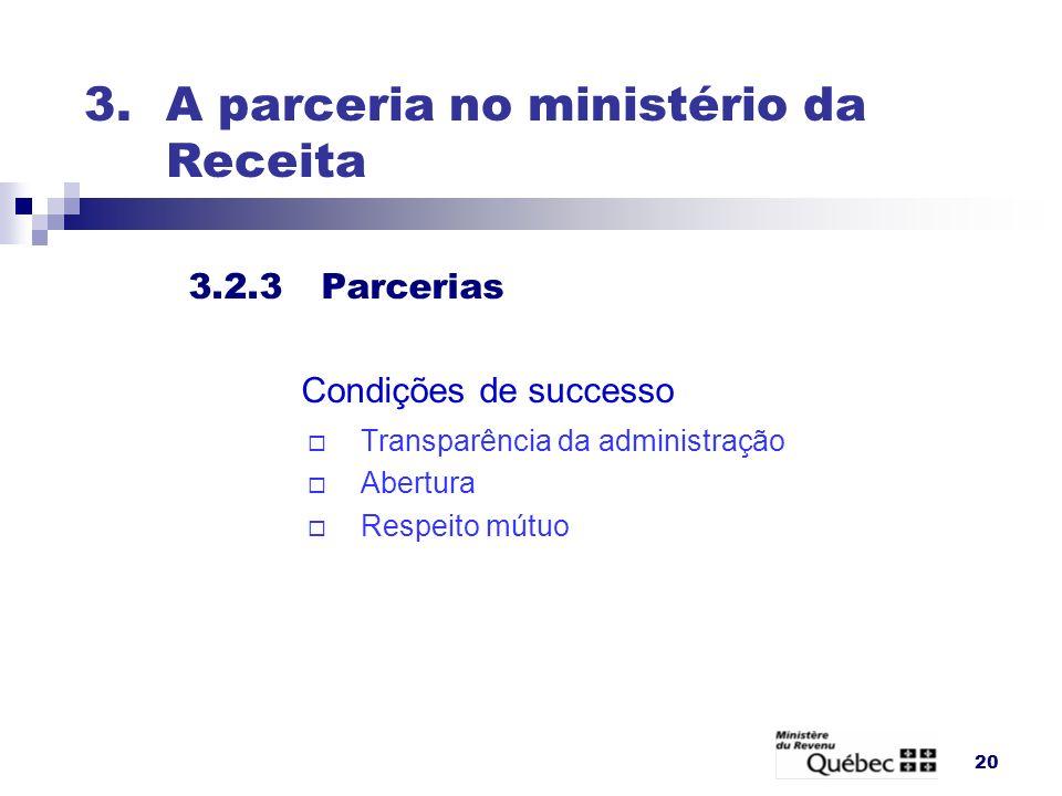 3. A parceria no ministério da Receita