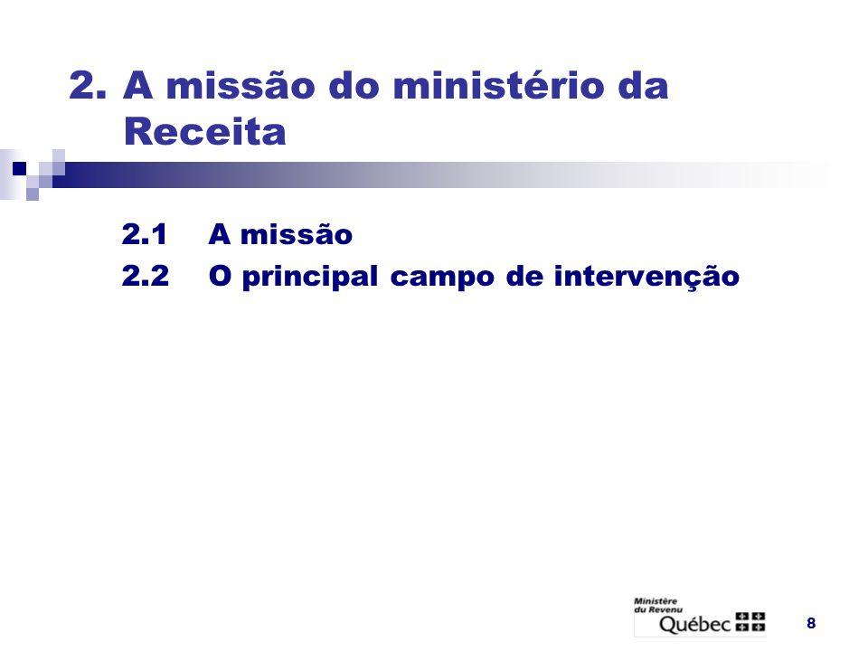 2. A missão do ministério da Receita