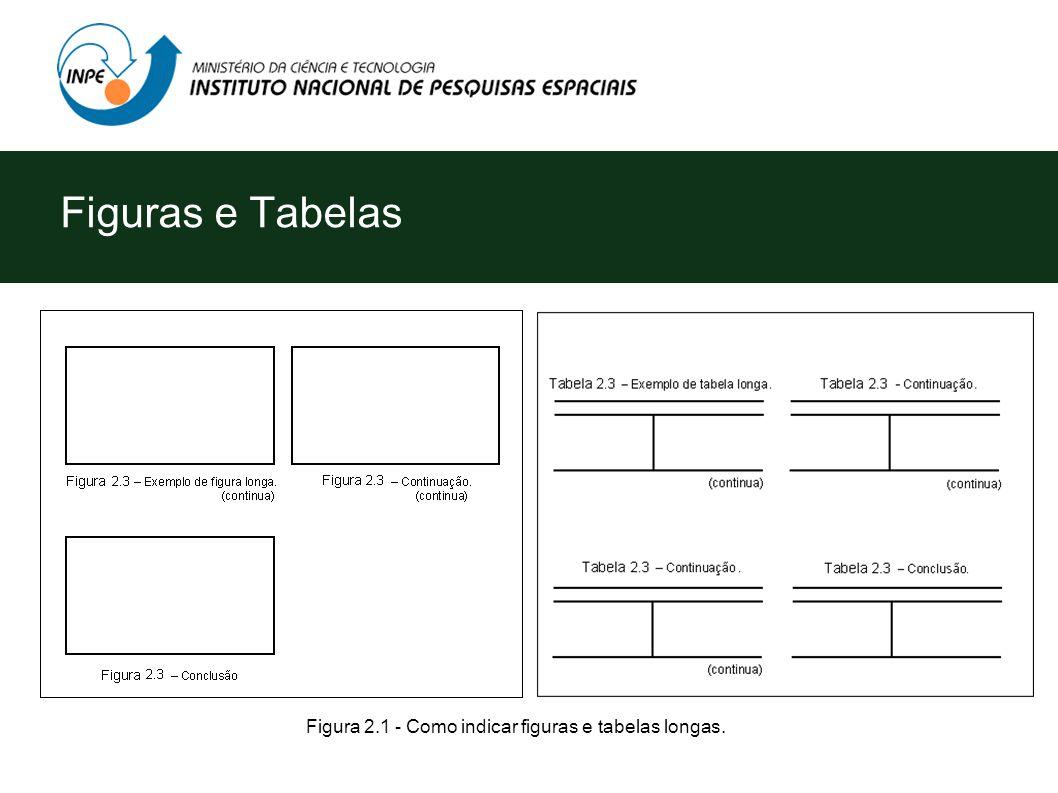 Figuras e Tabelas Figura 2.1 - Como indicar figuras e tabelas longas.