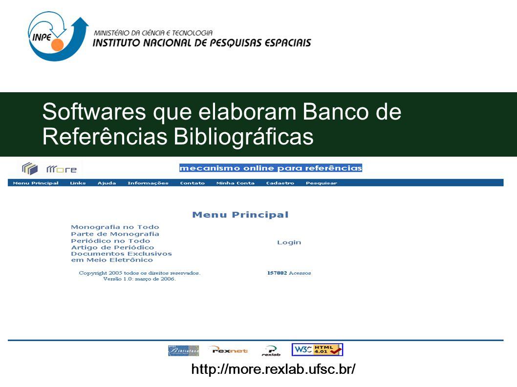 Softwares que elaboram Banco de Referências Bibliográficas