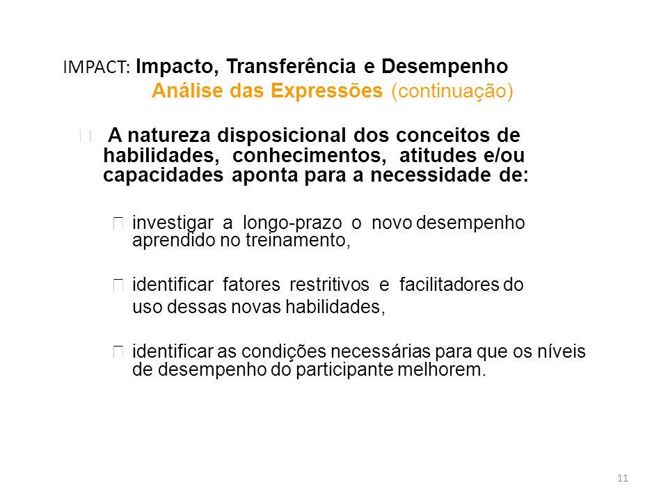 IMPACT: Impacto, Transferência e Desempenho
