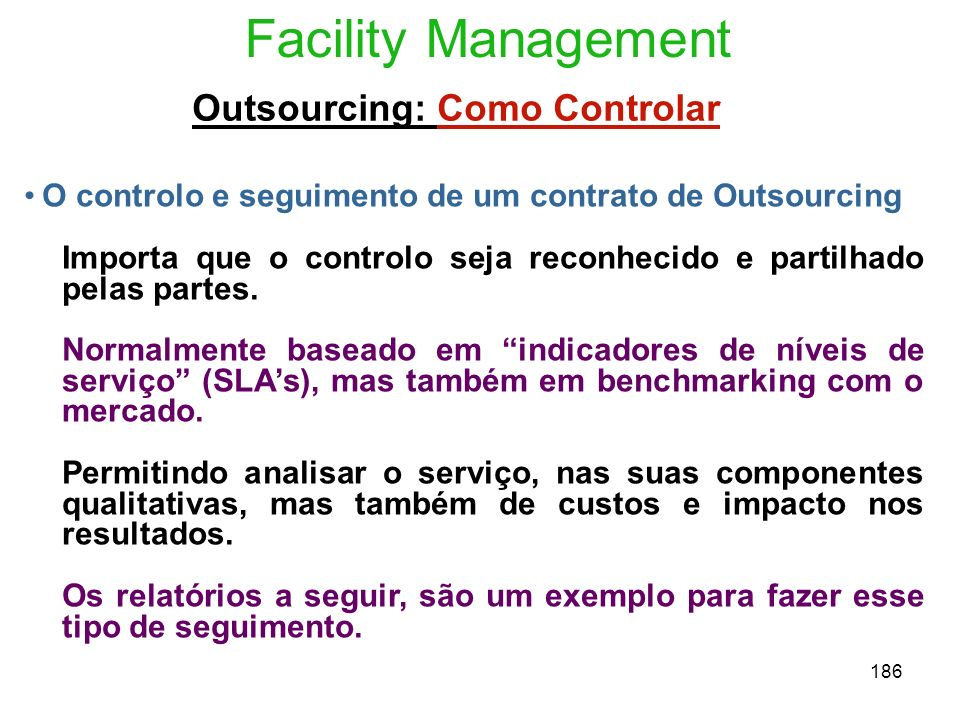 Outsourcing: Como Controlar