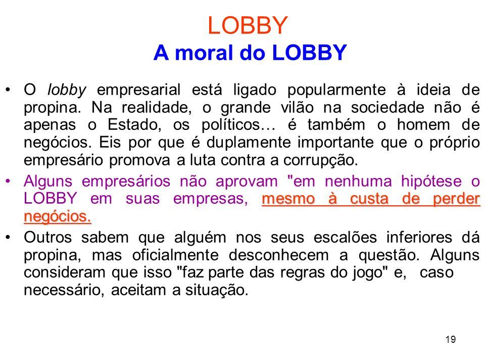 LOBBY A moral do LOBBY