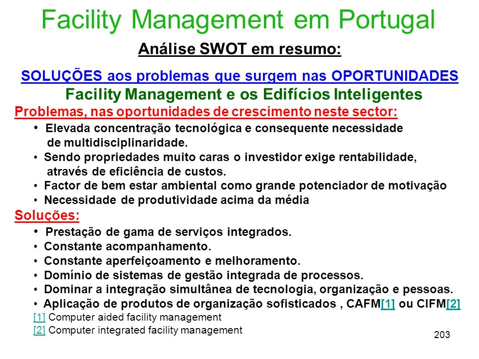 Facility Management em Portugal