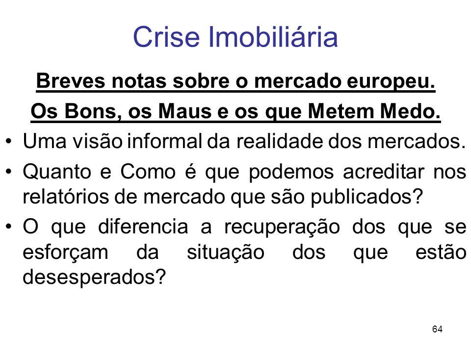 Crise Imobiliária Breves notas sobre o mercado europeu.