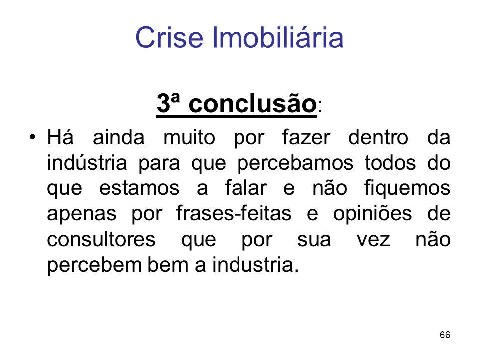 Crise Imobiliária 3ª conclusão: