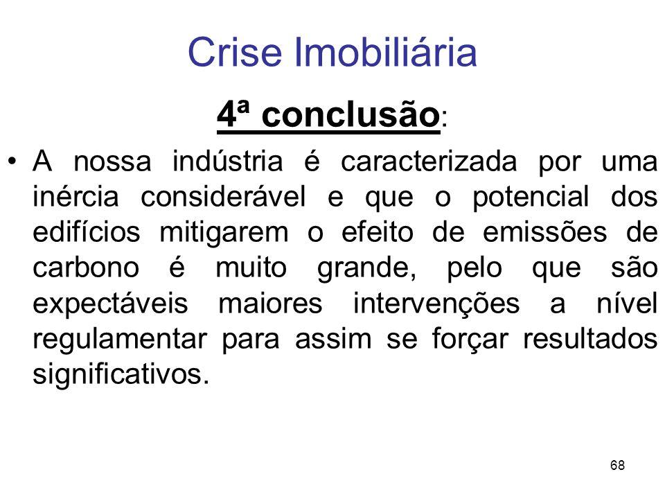 Crise Imobiliária 4ª conclusão: