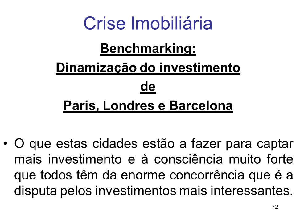 Dinamização do investimento
