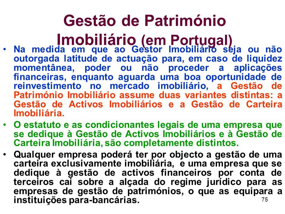 Gestão de Património Imobiliário (em Portugal)