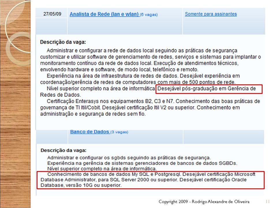 Copyright 2009 - Rodrigo Alexandre de Oliveira