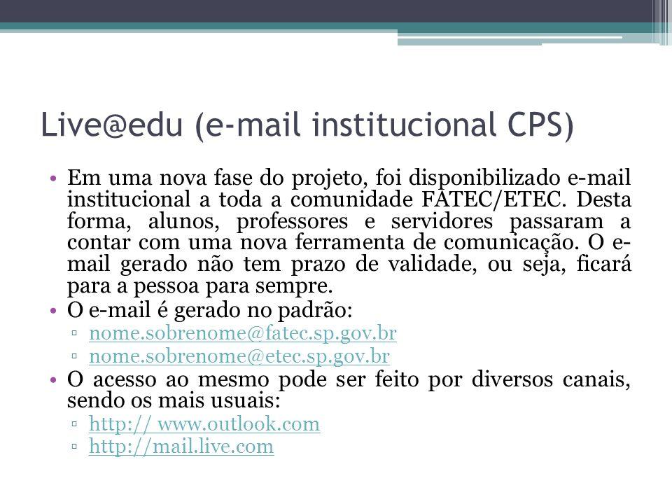 Live@edu (e-mail institucional CPS)