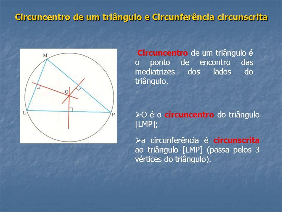 Circuncentro de um triângulo e Circunferência circunscrita