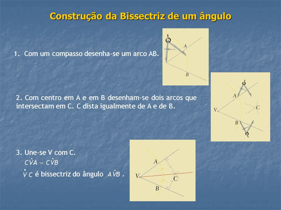 Construção da Bissectriz de um ângulo