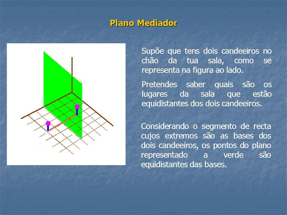 Plano Mediador Supõe que tens dois candeeiros no chão da tua sala, como se representa na figura ao lado.