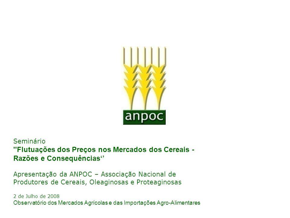 Seminário Flutuações dos Preços nos Mercados dos Cereais - Razões e Consequências''