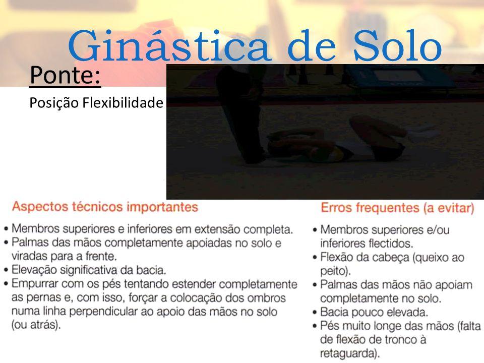 Ginástica de Solo Ponte: Posição Flexibilidade