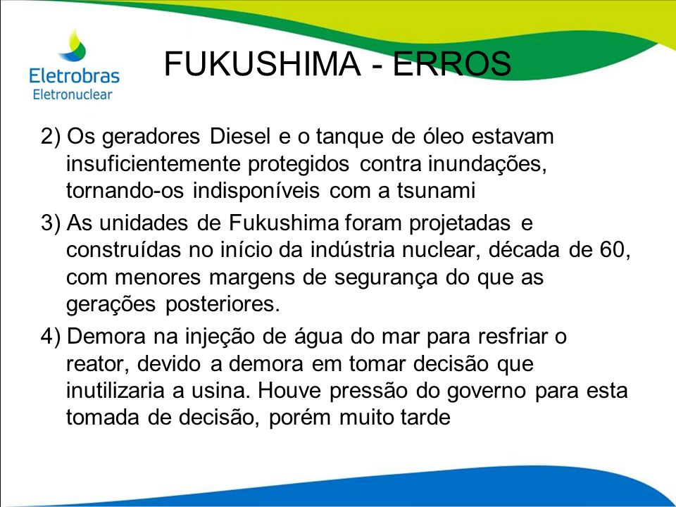 FUKUSHIMA - ERROS