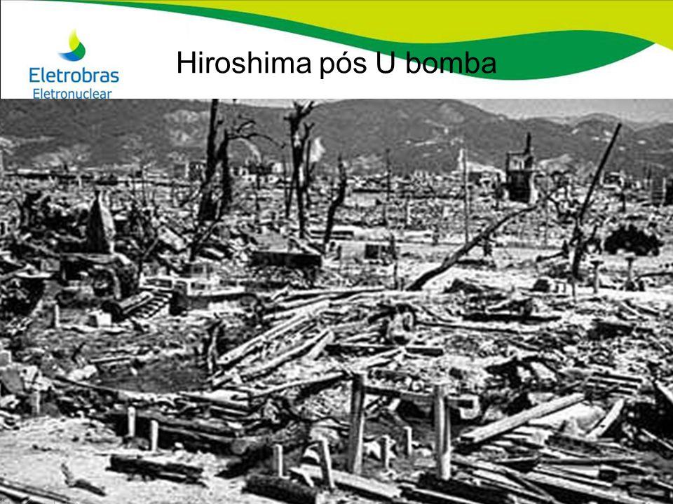 Hiroshima pós U bomba Hiroshima antes e depois