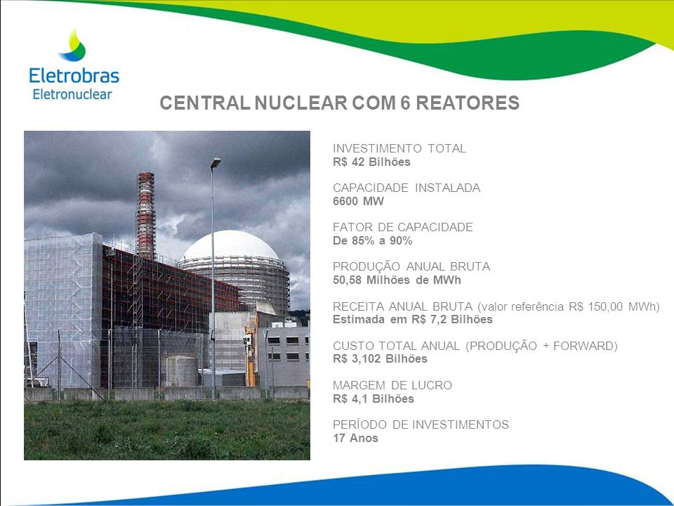 CENTRAL NUCLEAR COM 6 REATORES