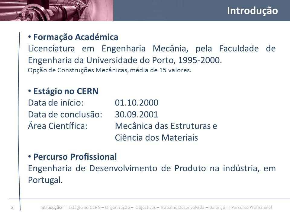 Introdução Formação Académica