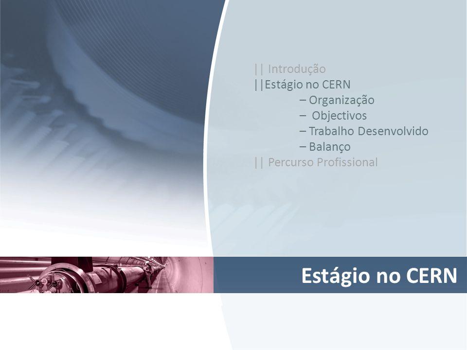 Estágio no CERN || Introdução ||Estágio no CERN – Organização