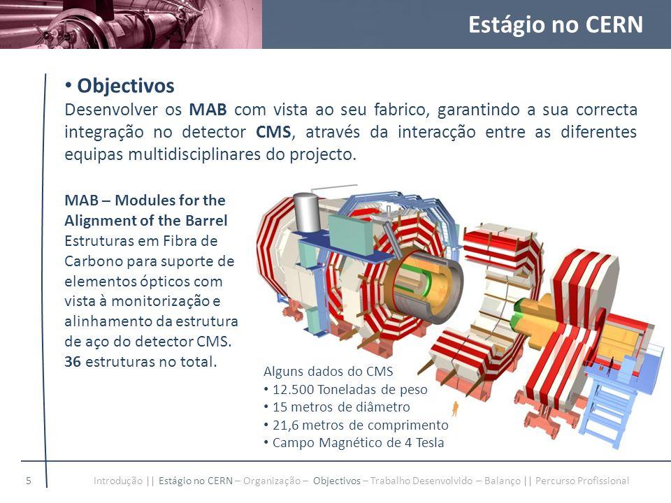 Estágio no CERN Objectivos