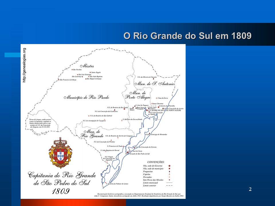 O Rio Grande do Sul em 1809