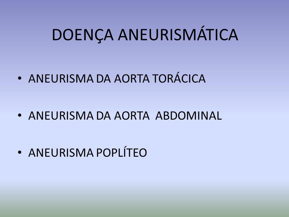 DOENÇA ANEURISMÁTICA ANEURISMA DA AORTA TORÁCICA
