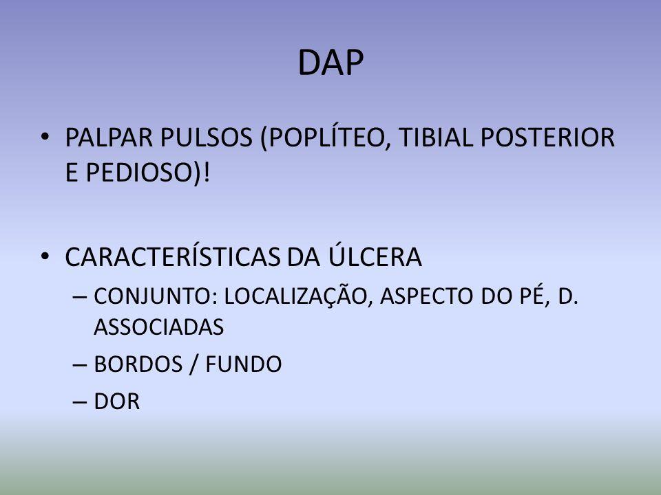 DAP PALPAR PULSOS (POPLÍTEO, TIBIAL POSTERIOR E PEDIOSO)!