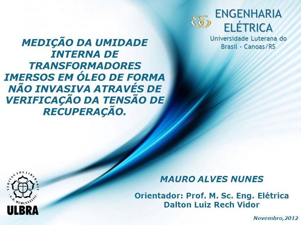 Orientador: Prof. M. Sc. Eng. Elétrica Dalton Luiz Rech Vidor