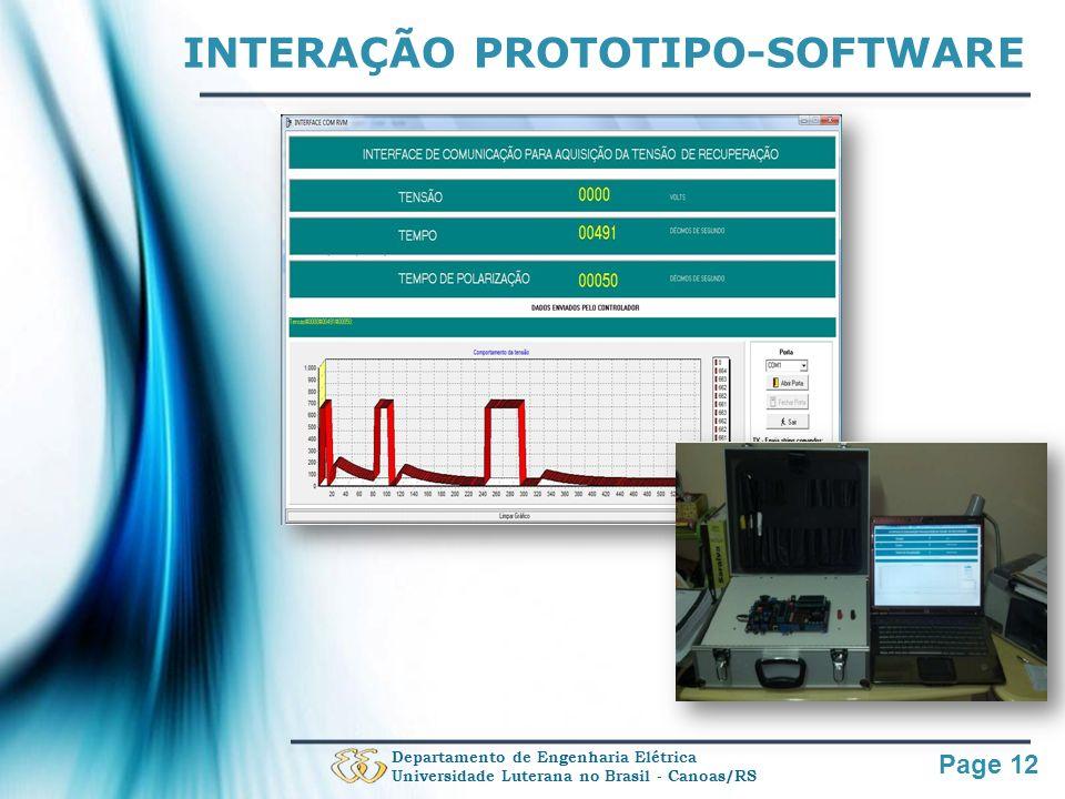 INTERAÇÃO PROTOTIPO-SOFTWARE